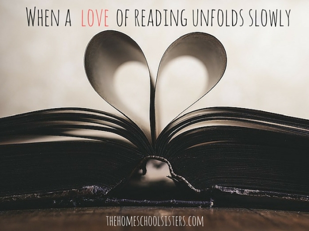 When a love of reading unfolds slowly